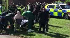 Six injured as car hits crowd celebrating Eid in north England city
