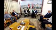 Palestinian Authority and Egyptian officials in Gaza