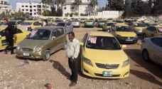 Taxi drivers protest against ride hailing apps