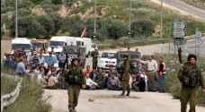 Israeli forces block entrances to West Bank village