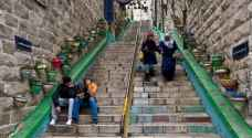 Amman's old stairs get some TLC from the city's municipality