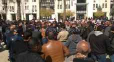 Photos: Greater Amman Municipality workers go on strike demanding rights