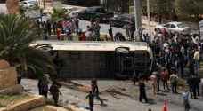Tourist bus crashes in Ain Mousa, Petra