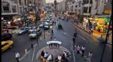 Roadblocks and detours in Downtown Amman