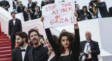 Palestinians hold minute's silence for Gaza victims at the Cannes Film Festival
