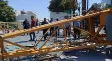 Abdali crane collapse: Four injured, solar panels damaged at House of Representatives