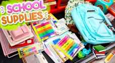 Jordanian parents spend JD 40 on each child's school supplies