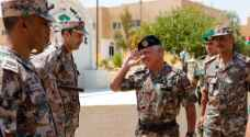 King visits NCO Training School in Zarqa