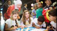 Queen Rania Attends Festival Launch as Part of Campaign to Reduce Violence against Children