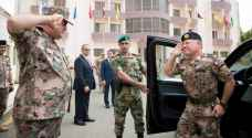 King Abdullah visits the General Command of JAF