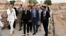 Crown Princess Victoria of Sweden visits Amman Citadel (video)