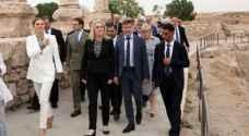 Crown Princesses of Sweden visits Amman Citadel
