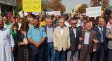 Protestors in Amman demand reclaiming Baqoura, Al-Ghamr