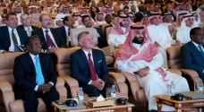 King Abdullah meets Saudi King, Crown Prince, attends FFII