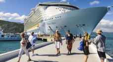 Cruise ships carrying thousands of European tourists dock in Aqaba