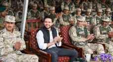 Crown Prince Al Hussein attends Southern Military Region exercise