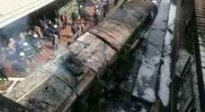 Video: Horrific train crash and explosion at Ramses station in Egypt