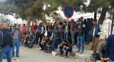 Unemployed youth continue protesting in Tafilah