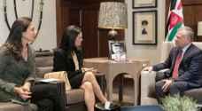 King receives Panama's Vice President at Husseiniya Palace