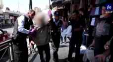 Police deal with drunk man in Downtown Amman