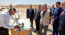 King visits horizontal bunker silos for grain storage at Ghabawi built to enhance food security