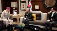 King receives UK Defense Senior Adviser to the Middle East
