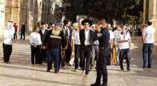 Tens of radical settlers storm Al-Aqsa compound