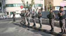 Heavy security presence near 4th circle, Interior circle prior to Teachers Syndicate protests