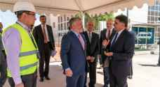 King checks on progress of King Hussein Business Park expansion project