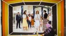 Queen Rania visits third edition of Amman Design Week's Ras El Ain Hangar exhibition