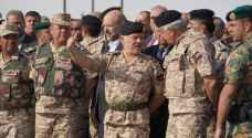 King attends tactical exercise by 1st Royal Guards Mechanised Brigade