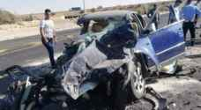 Six injured in two-vehicle collision accident on Desert Highway