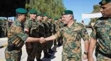King attends military exercise conducted by Royal Guard Command personnel