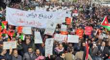 Photos: Mass march in Amman against Jordan-Israel gas agreement