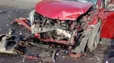 Nine people injured in three-car collision in Rihab area