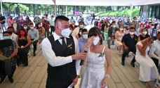 VIDEO: Mass wedding in El Salvador on Valentine's Day