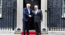 British PM affirms support for King Abdullah II, Jordan