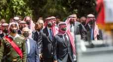 IMAGES: King Abdullah II participates in Prince Muhammed's funeral