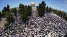 More than 70,000 Palestinians perform Friday Prayer at Al-Aqsa Mosque