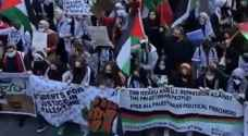 Pro-Palestinian protesters march in Chicago