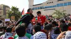 Thousands of Jordanians march to Palestinian border in support of Palestine