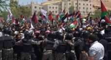 Jordanians demonstrate for second day near Palestinian border in support of Palestine