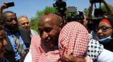 Palestine Parliamentary Committee visits liberated prisoner Abdullah Abu Jaber