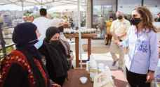 Her Majesty meets with farmers, entrepreneurs who benefit from 'Dibeen' platform