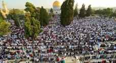 More than 100,000 worshipers perform Eid al-Adha prayer at Al-Aqsa