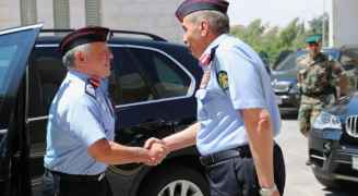 King visits Public Security Directorate