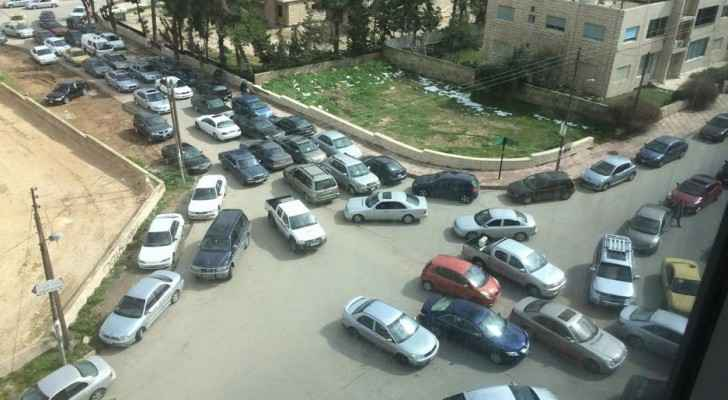 Even Amman's side roads aren't spared from heavy traffic.