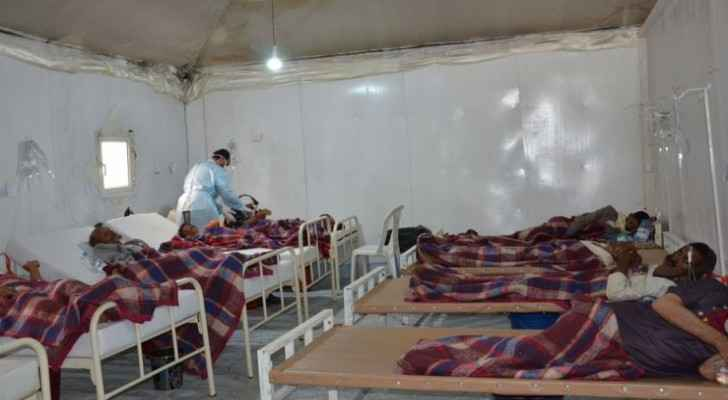 The male inpatient department at MSF cholera treatment center in Khamer. Photo: Nuha Haider/MSF