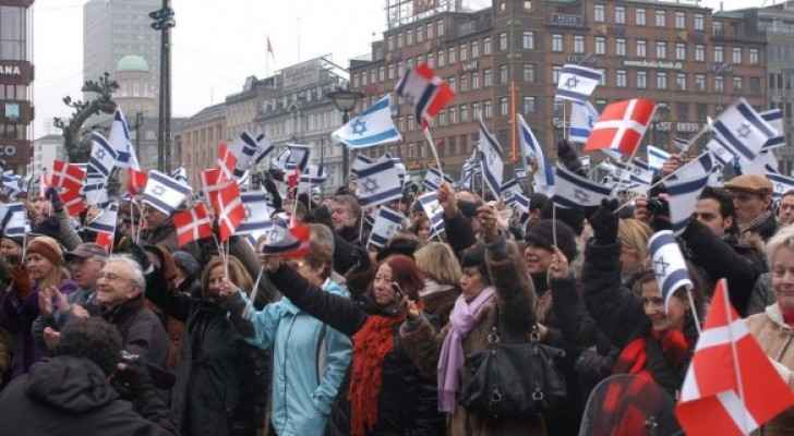 Pro-Israel demonstrations in Denmark.