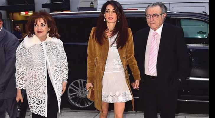 Parents of Amal Clooney are proud grandparents, Baria and Ramzi Alamuddin